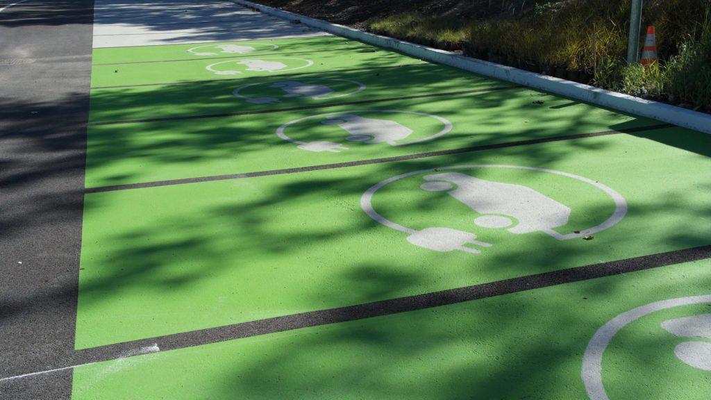 StreetBondSR Coating on asphalt electric vehicle marking scaled