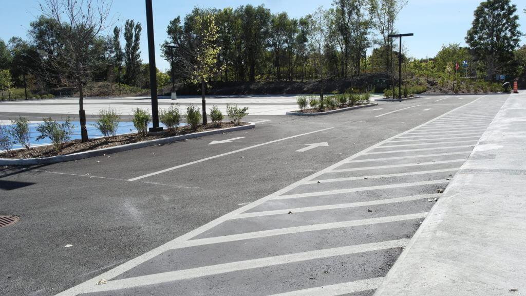 StreetBondSR Coating on asphalt pavement
