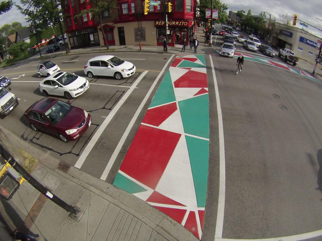 TrafficPatterns deorative asphalt crosswalk commercial drive vancouver