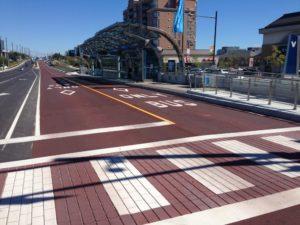 Decorative stamped asphalt crosswalk viva trafficpatternsxd