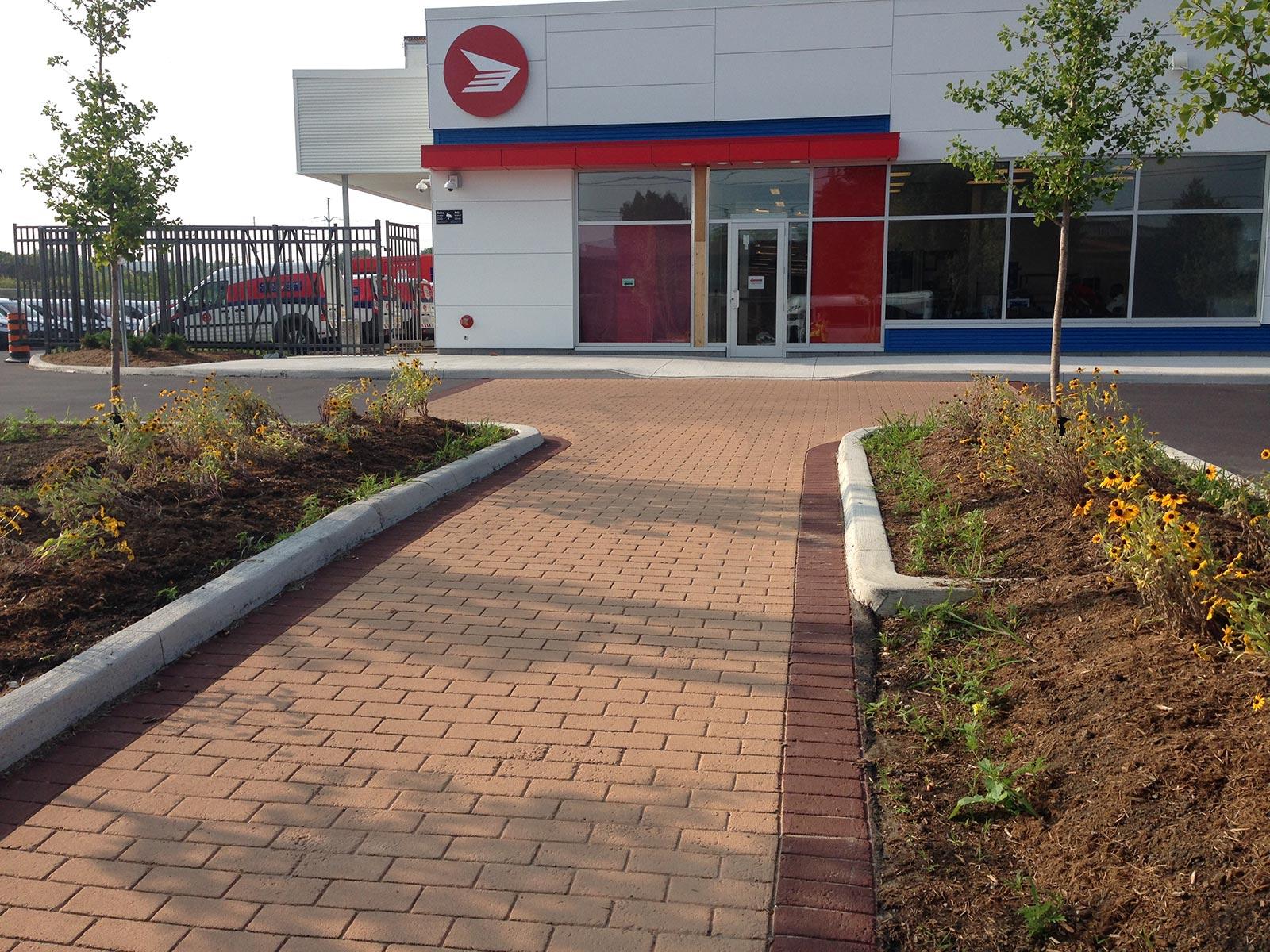Canada Post Stamped Asphalt Walkway