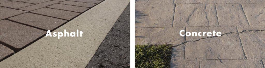 Stamped Asphalt vs Stamped Concrete