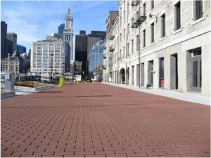 StreetPrint stamped asphalt plaza