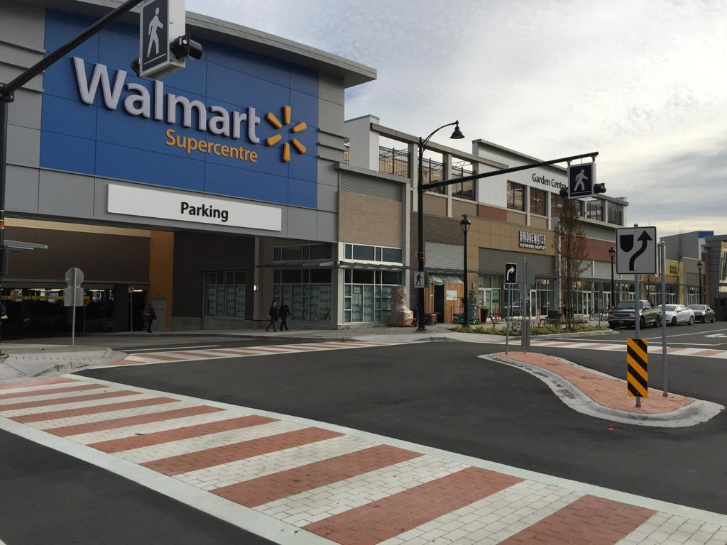 Walmart Stamped Asphalt Crosswalk Richmond BC TrafficPatternsXD