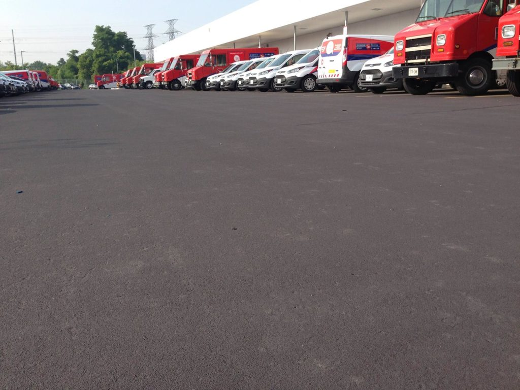 StreetBondSR for cooler asphalt surfaces solar reflective LEED compliant coating for asphalt parking lot in Toronto ON Canada