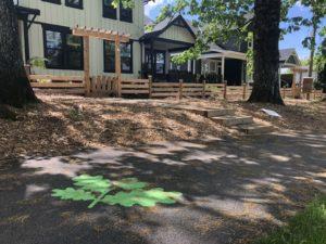 Decorative asphalt sidewalk for Reunion housing development in langley BC Canada 1