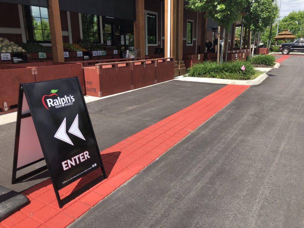 Ralphs Farm Market Parking Lot with StreetPrint Decorative Red Stamped Asphalt