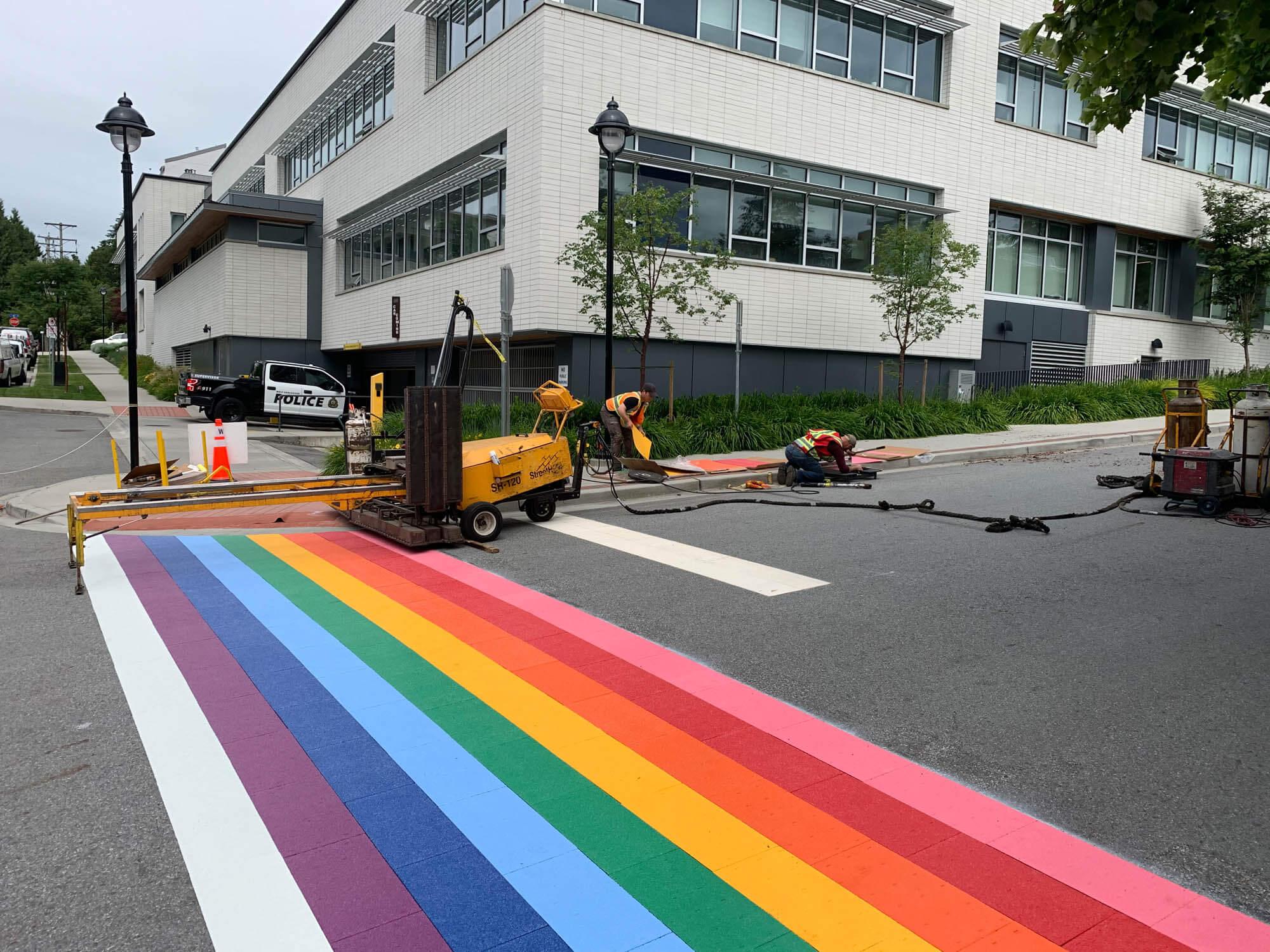 trafficpatternsxd rainbow crosswalk in vancouver bc canada