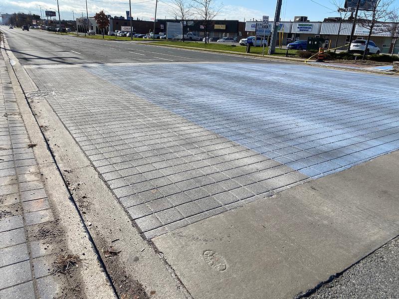 decorative asphalt crosswalk